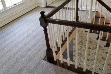 Stripe Design On Stairs